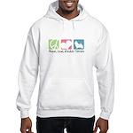 Peace, Love, Norwich Terriers Hooded Sweatshirt
