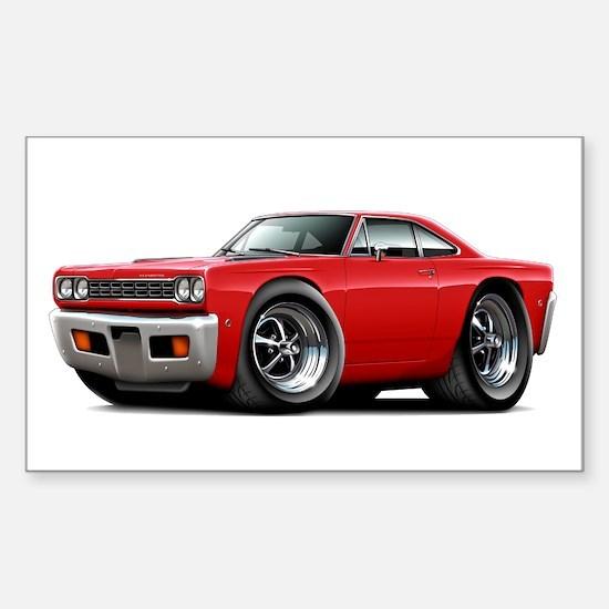 1968 Roadrunner Red Car Sticker (Rectangle)
