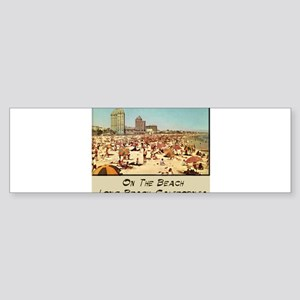 On The Beach Long Beach Sticker (Bumper 10 pk)