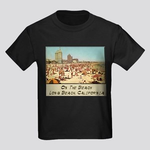 On The Beach Long Beach Kids Dark T-Shirt