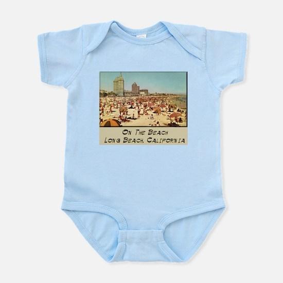 On The Beach Long Beach Infant Bodysuit