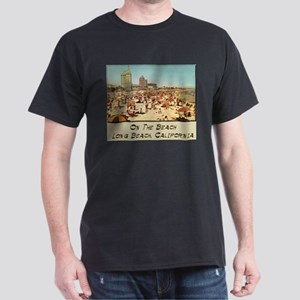 On The Beach Long Beach Dark T-Shirt