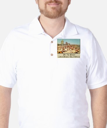 On The Beach Long Beach Golf Shirt