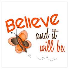 Believe 1 Butterfly 2 ORANGE Poster