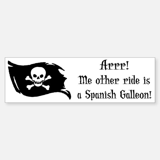 Spanish Galleon Bumper Bumper Bumper Sticker