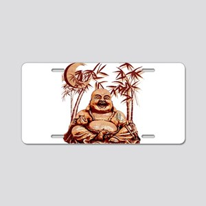 Riyah-Li Designs Happy Buddha Aluminum License Pla