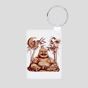 Riyah-Li Designs Happy Buddha Aluminum Photo Keych
