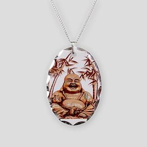 Riyah-Li Designs Happy Buddha Necklace Oval Charm