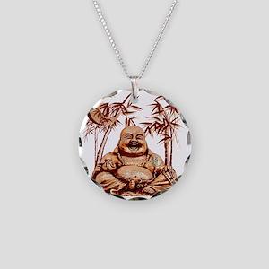 Riyah-Li Designs Happy Buddha Necklace Circle Char
