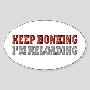 Keep Honking Oval Sticker