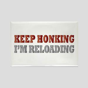 Keep Honking Rectangle Magnet