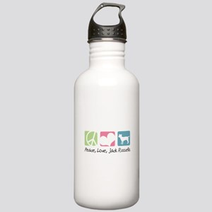 Peace, Love, Jack Russells Stainless Water Bottle