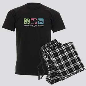 Peace, Love, Jack Russells Men's Dark Pajamas