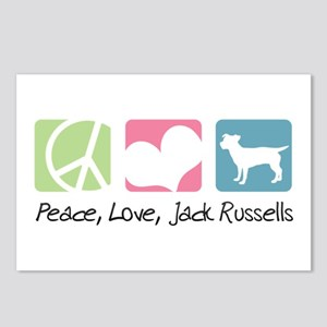 Peace, Love, Jack Russells Postcards (Package of 8