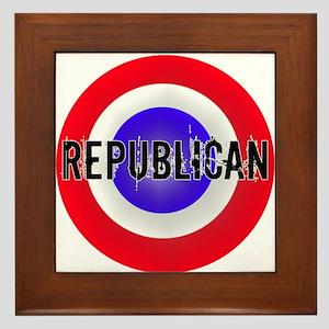 Patriotic Republican Framed Tile