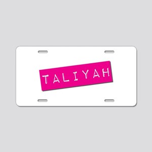 Taliyah Punchtape Aluminum License Plate