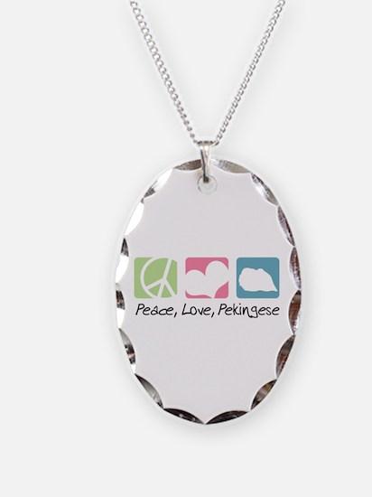 Peace, Love, Pekingese Necklace