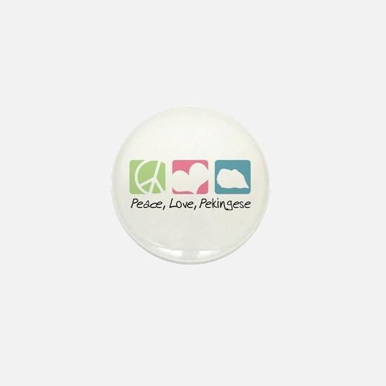 Peace, Love, Pekingese Mini Button