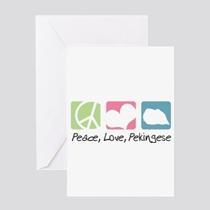 Peace, Love, Pekingese Greeting Card