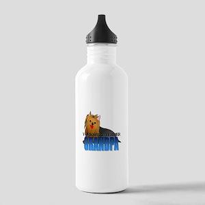 Yorkshire Terrier Grandpa Stainless Water Bottle 1