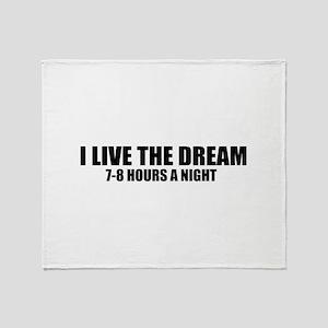 I live the dream Throw Blanket