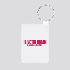 I live the dream Aluminum Photo Keychain