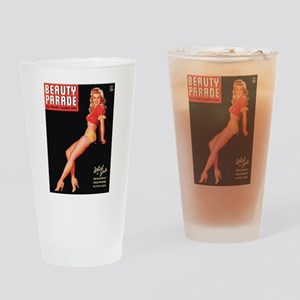 Beauty Parade Vintage Leggy Pin Up Drinking Glass
