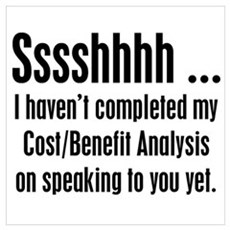 Cost Benefit Analysis Poster