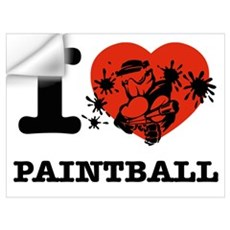 I love Paintball Wall Decal
