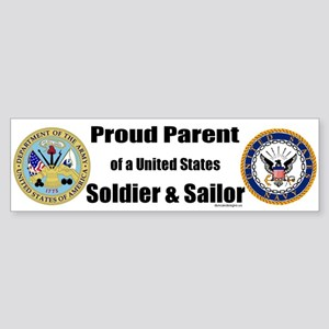 Proud Parent of a U.S. Soldier and Sailor Sticker