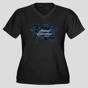 Animal Liberation 4 - Women's Plus Size V-Neck Dar