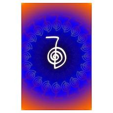 Cho Ku Rei Reiki Power Symbol Mandala Poster