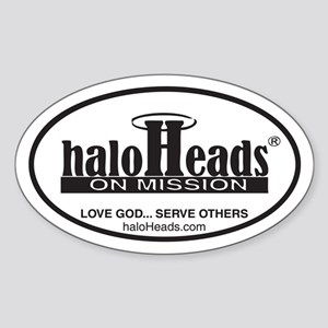 HaloHeads Sticker (Oval)
