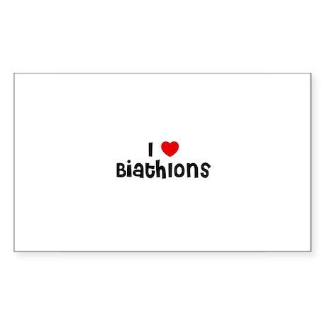 I * Biathlons Rectangle Sticker