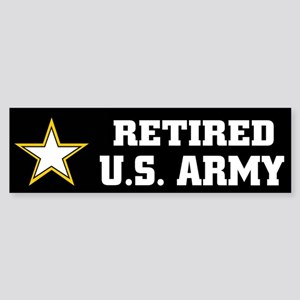 Retired U.S. Army Sticker (Bumper)