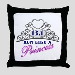 Run Like A Princess Throw Pillow