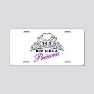 Run Like A Princess Aluminum License Plate