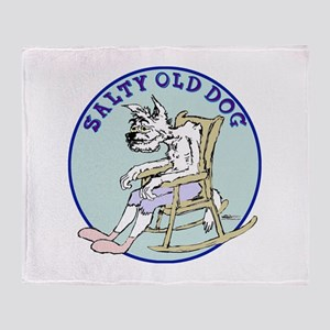 Salty Old Dog Throw Blanket