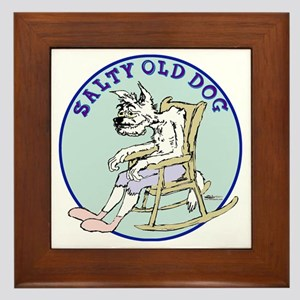 Salty Old Dog Framed Tile