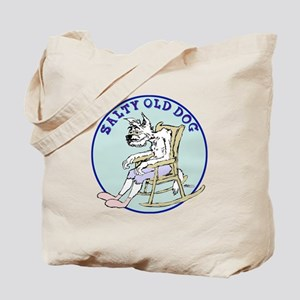 Salty Old Dog Tote Bag