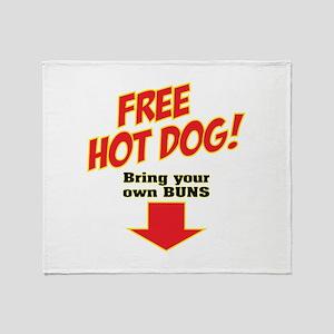 Free hot dog! Throw Blanket
