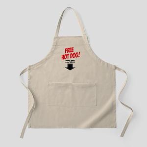 Free hot dog! Apron