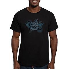 Vegan Straight Edge 2 - Men's Fitted T-Shirt (dark