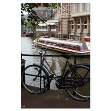Bikes & Boats in Amsterdam Poster