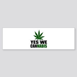 Yes we cannabis Sticker (Bumper)
