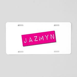 Jazmyn Punchtape Aluminum License Plate
