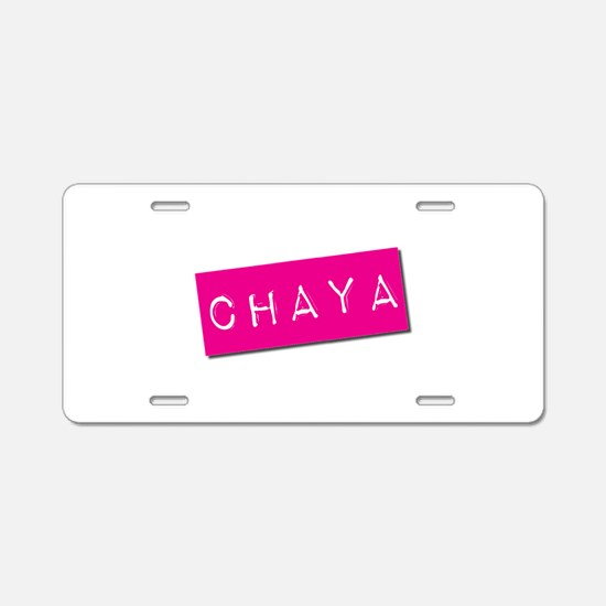 Chaya Punchtape Aluminum License Plate