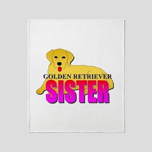 Golden Retriever Sister Throw Blanket