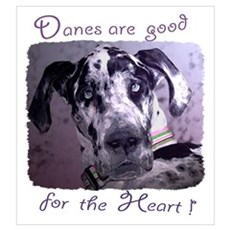 Great Danes Heart Poster