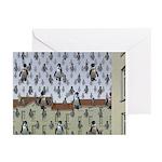 Raining Penguins Greeting Cards (Pk of 10)